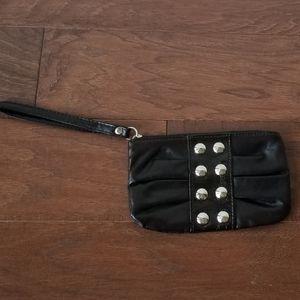 Payless Black Stud Wristlet